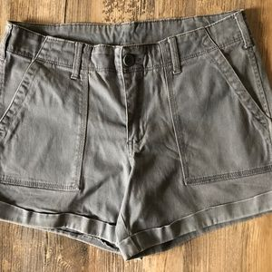 Ladie's Gray Faded Glory Size 10 Shorts 3.5 Inseam